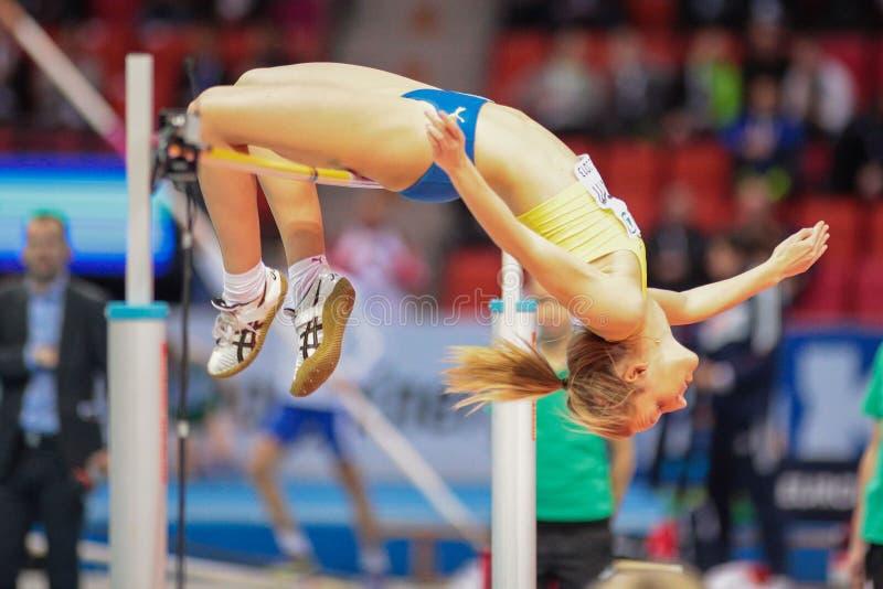 Ευρωπαϊκό εσωτερικό πρωτάθλημα 2013 αθλητισμού στοκ εικόνες