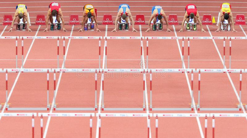 Ευρωπαϊκό εσωτερικό πρωτάθλημα 2015 αθλητισμού στοκ εικόνες