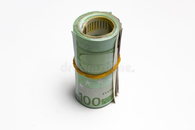Ευρωπαϊκό νόμισμα  ρόλος των ευρο- τραπεζογραμματίων στοκ εικόνα