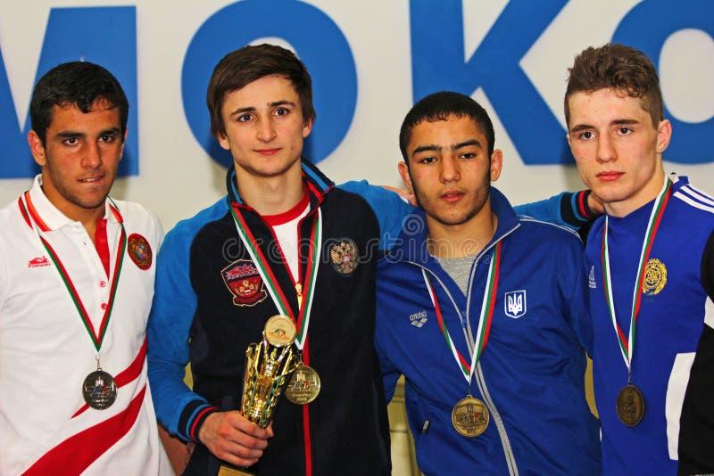 2014 ευρωπαϊκό πρωτάθλημα πάλης μαθητών στρατιωτικής σχολής στοκ φωτογραφία