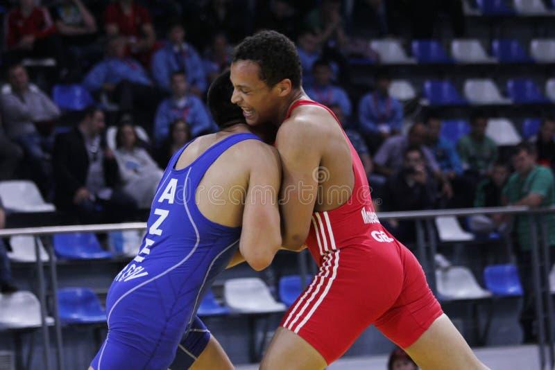 2014 ευρωπαϊκό πρωτάθλημα πάλης μαθητών στρατιωτικής σχολής στοκ φωτογραφίες