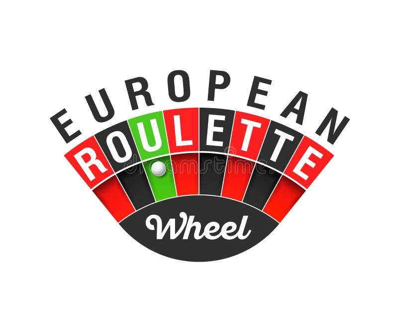 Ευρωπαϊκό σημάδι ροδών ρουλετών διανυσματική απεικόνιση