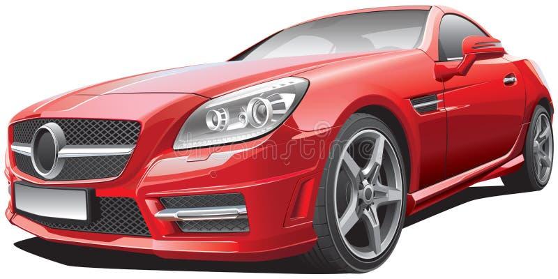 Ευρωπαϊκό συμπαγές ανοικτό αυτοκίνητο απεικόνιση αποθεμάτων
