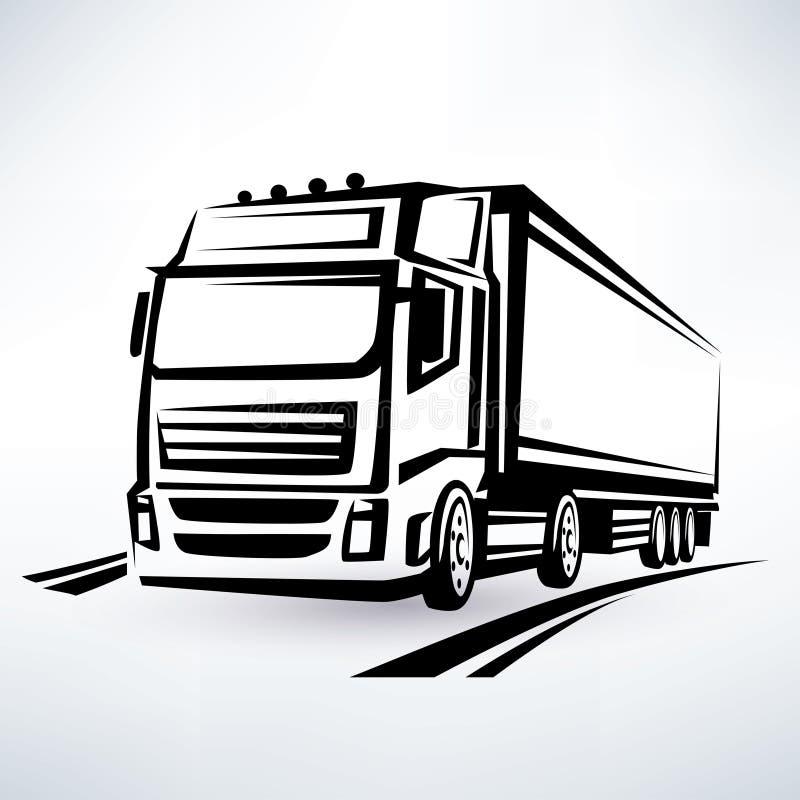 Ευρωπαϊκό φορτηγό απεικόνιση αποθεμάτων