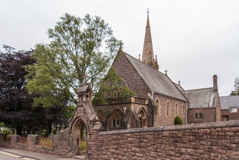 Ευρύς πυροβολισμός της εκκλησίας του Saint-Andrews, οχυρό William Σκωτία στοκ φωτογραφίες με δικαίωμα ελεύθερης χρήσης