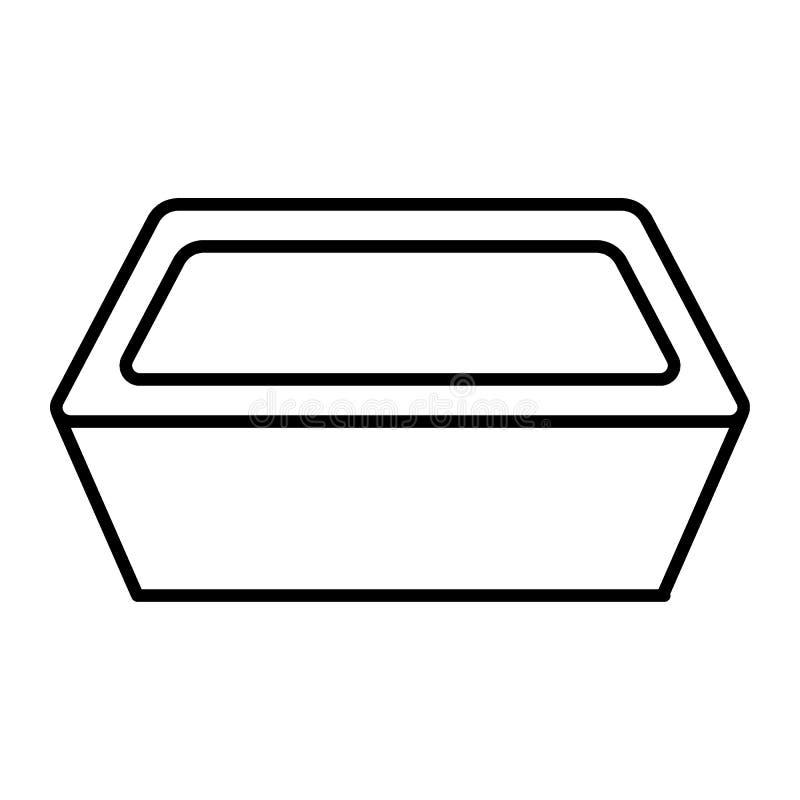 Ευρύ εγκαταστάσεων εικονίδιο γραμμών δοχείων λεπτό Δοχείο τη διανυσματική απεικόνιση λουλουδιών που απομονώνεται για στο λευκό Fl απεικόνιση αποθεμάτων