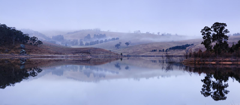Ευρύ πανόραμα Lyell λιμνών του BM στοκ φωτογραφίες με δικαίωμα ελεύθερης χρήσης