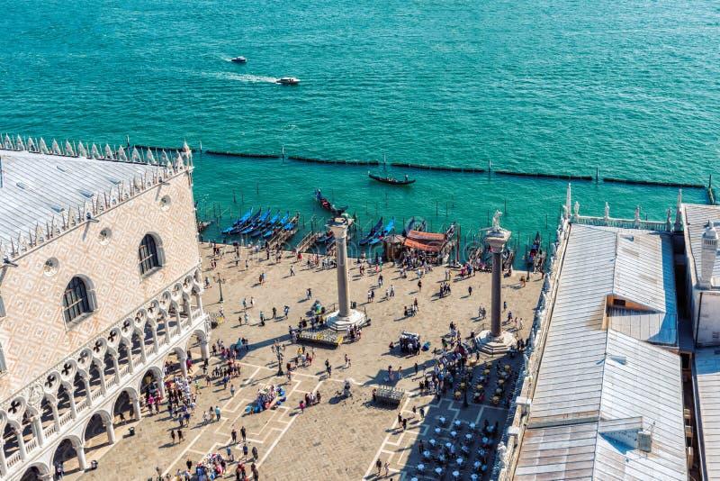 Ευρώπη Ιταλία Βενετία Υψηλή άποψη της πλατείας SAN Marco και των πυλών της Βενετίας στοκ φωτογραφίες με δικαίωμα ελεύθερης χρήσης