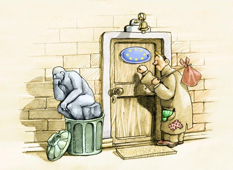 Ευρώπη ξένοιαστη απεικόνιση αποθεμάτων