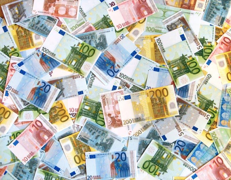 ευρώ ανασκόπησης στοκ εικόνα