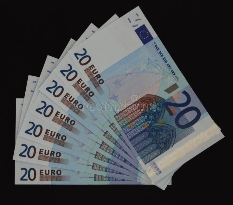ευρώ είκοσι τραπεζογραμματίων στοκ εικόνες με δικαίωμα ελεύθερης χρήσης
