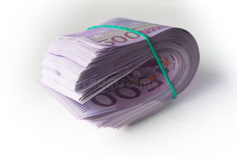 500 ευρώ κάτω από το λαστιχένιο φράγμα στοκ φωτογραφία με δικαίωμα ελεύθερης χρήσης