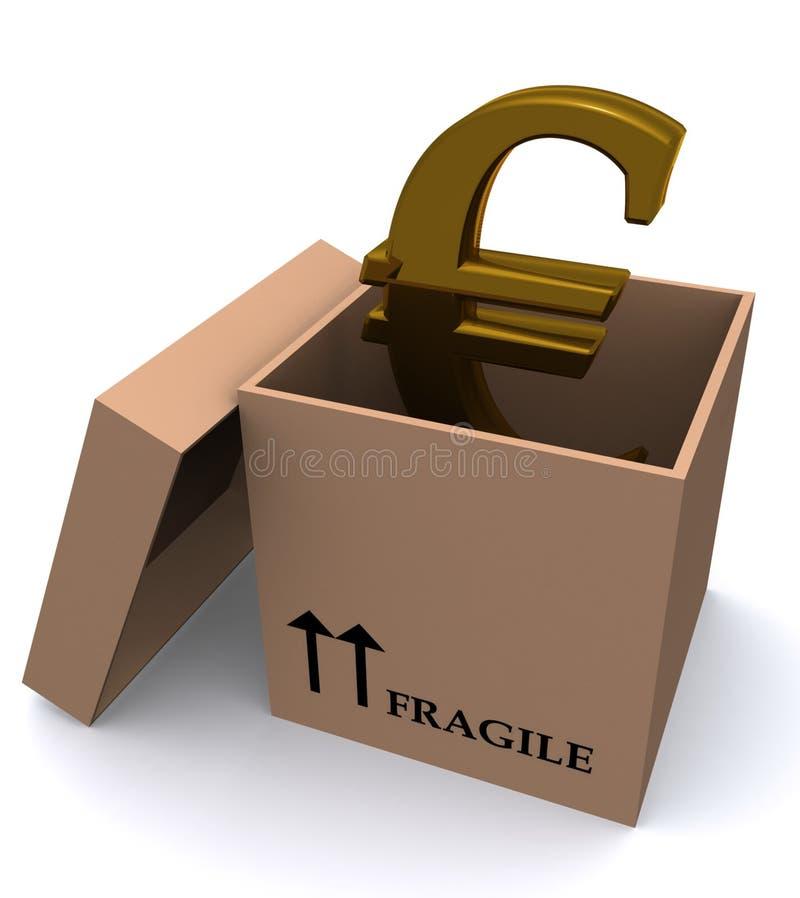 ευρώ κιβωτίων διανυσματική απεικόνιση