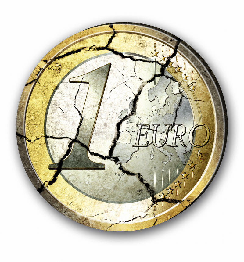 ευρώ κρίσεων στοκ φωτογραφία με δικαίωμα ελεύθερης χρήσης