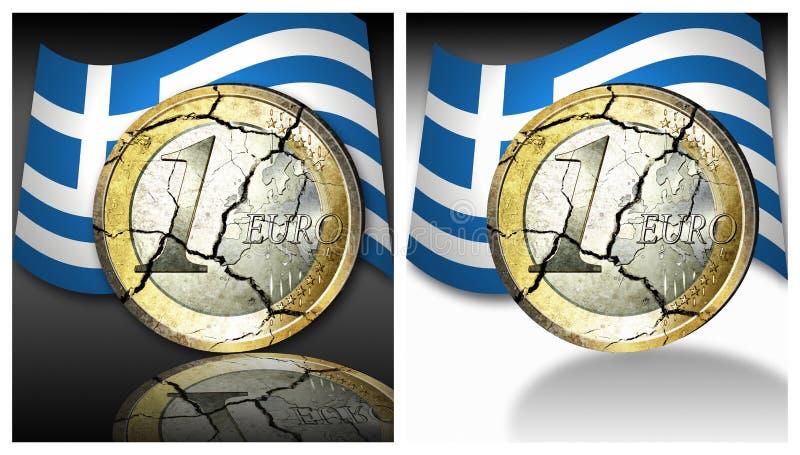 ευρώ κρίσεων στοκ εικόνα