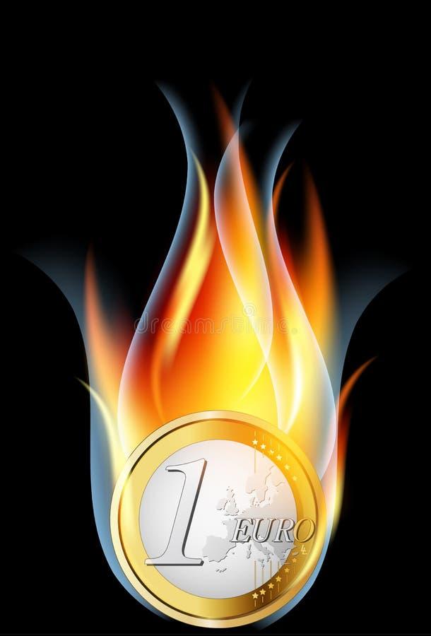 ευρώ κρίσης έννοιας απεικόνιση αποθεμάτων
