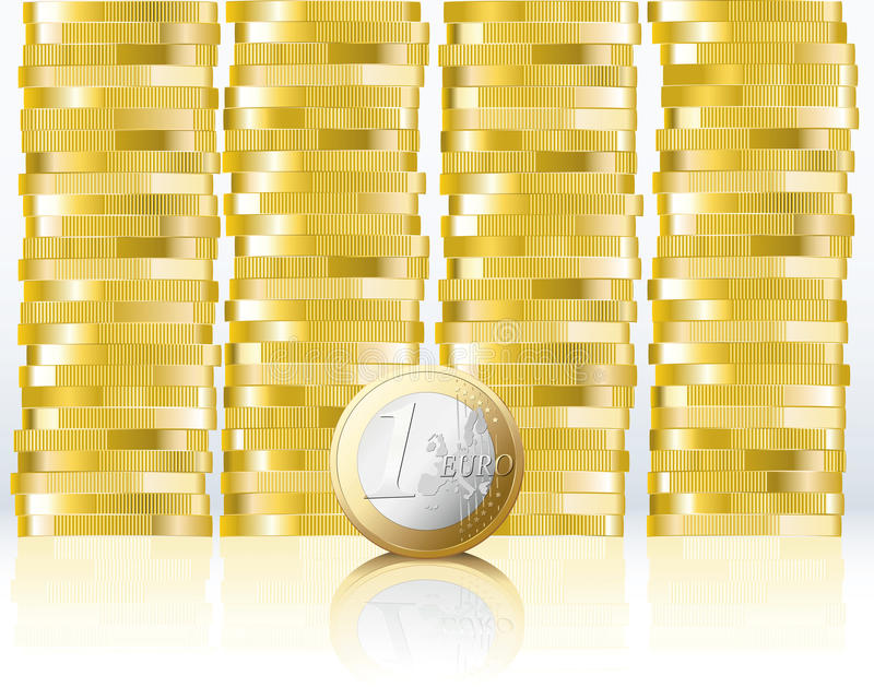 ευρώ νομισμάτων απεικόνιση αποθεμάτων