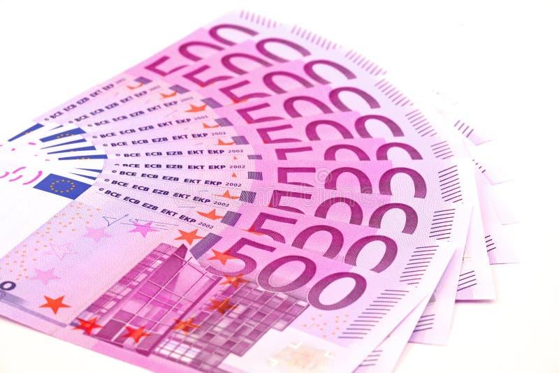 ευρώ πεντακόσια τραπεζο&g Στοκ Φωτογραφία