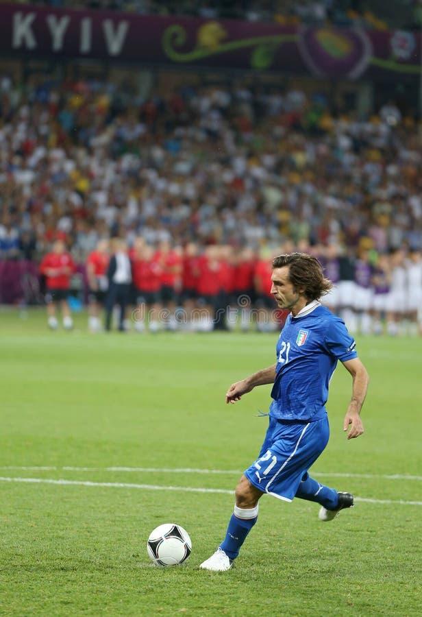 ΕΥΡΏ 2012 προημιτελικό παιχνίδι Αγγλία β UEFA Ιταλία στοκ φωτογραφία