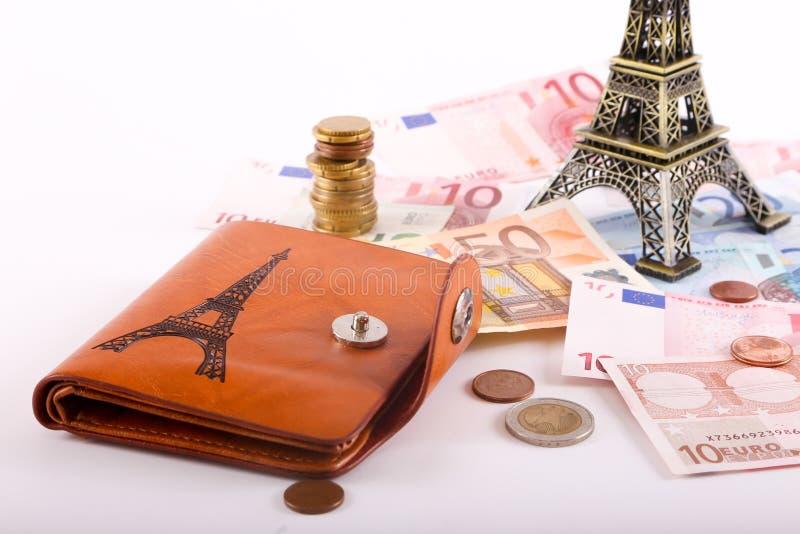 Ευρώ στο πορτοφόλι στοκ εικόνες