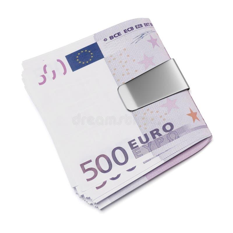 Ευρώ στο συνδετήρα χρημάτων απεικόνιση αποθεμάτων