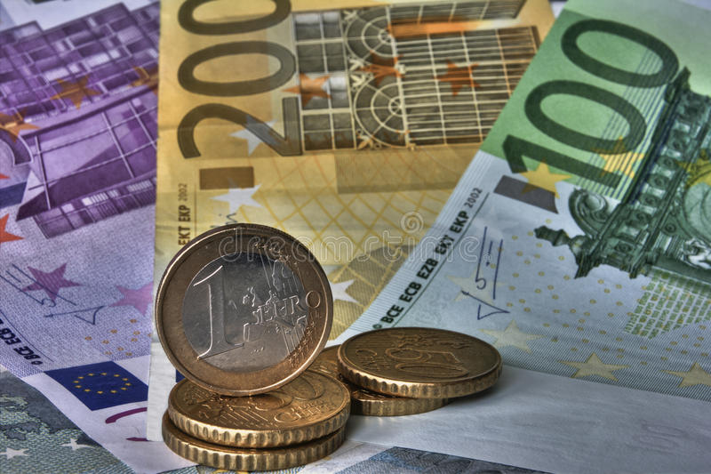 Ευρώ χρημάτων στοκ φωτογραφίες