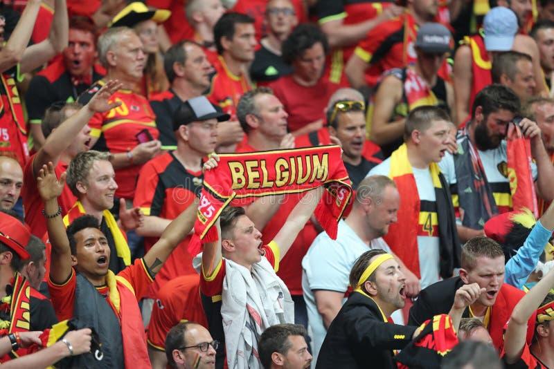 ΕΥΡΏ 2016 UEFA: Σουηδία β Βέλγιο στοκ εικόνες με δικαίωμα ελεύθερης χρήσης