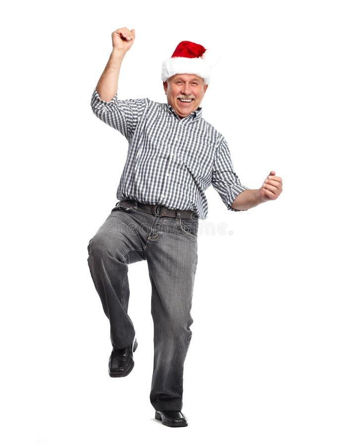 Ευτυχές άτομο Χριστουγέννων. στοκ φωτογραφία