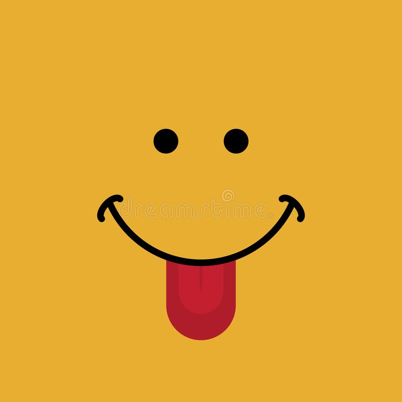 Ευτυχές έμβλημα προσώπου με τη διανυσματική απεικόνιση έκφρασης χαμόγελου απεικόνιση αποθεμάτων