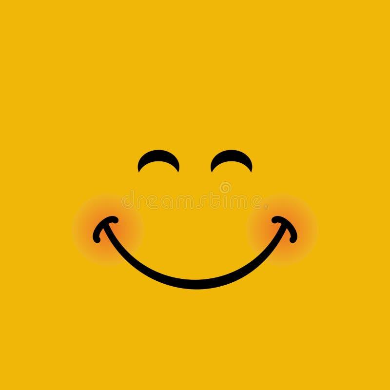 Ευτυχές έμβλημα προσώπου με τη διανυσματική απεικόνιση έκφρασης χαμόγελου ελεύθερη απεικόνιση δικαιώματος