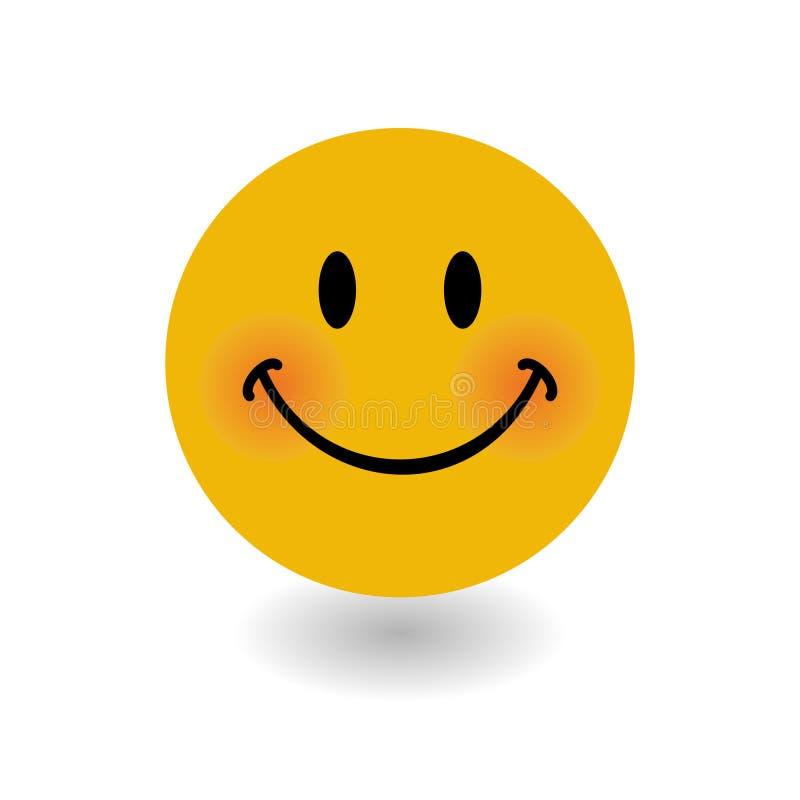Ευτυχές έμβλημα προσώπου με τη διανυσματική απεικόνιση έκφρασης χαμόγελου διανυσματική απεικόνιση