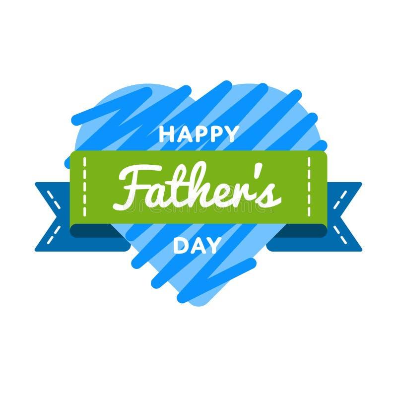Ευτυχές έμβλημα χαιρετισμού ημέρας πατέρων στοκ εικόνες με δικαίωμα ελεύθερης χρήσης