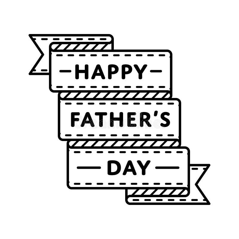 Ευτυχές έμβλημα χαιρετισμού ημέρας πατέρων στοκ εικόνα με δικαίωμα ελεύθερης χρήσης