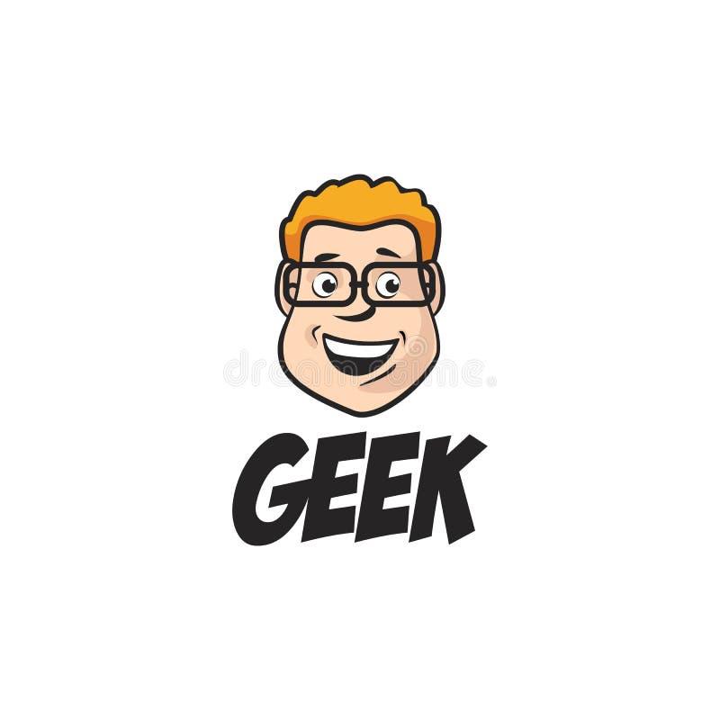 Ευτυχές αγόρι Geek διανυσματική απεικόνιση
