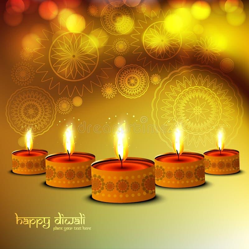 Ευτυχές ακτινοβολώντας φωτεινό ζωηρόχρωμο υπόβαθρο Diwali ελεύθερη απεικόνιση δικαιώματος
