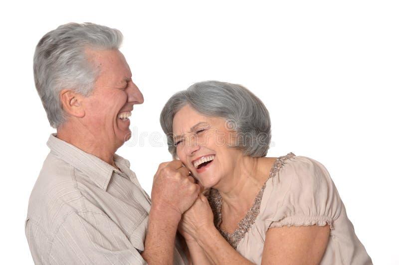 Ευτυχές ανώτερο ζεύγος στοκ φωτογραφία με δικαίωμα ελεύθερης χρήσης