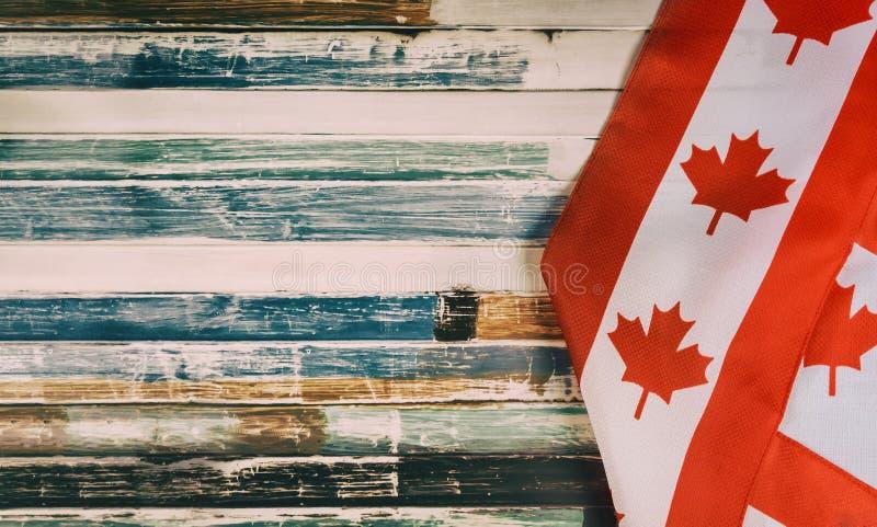 Ευτυχές Βικτώριας αγροτικό υπόβαθρο σημαιών ημέρας καναδικό στοκ εικόνα με δικαίωμα ελεύθερης χρήσης