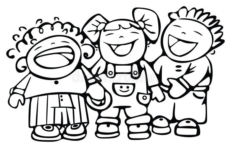 ευτυχές γέλιο παιδιών ελεύθερη απεικόνιση δικαιώματος