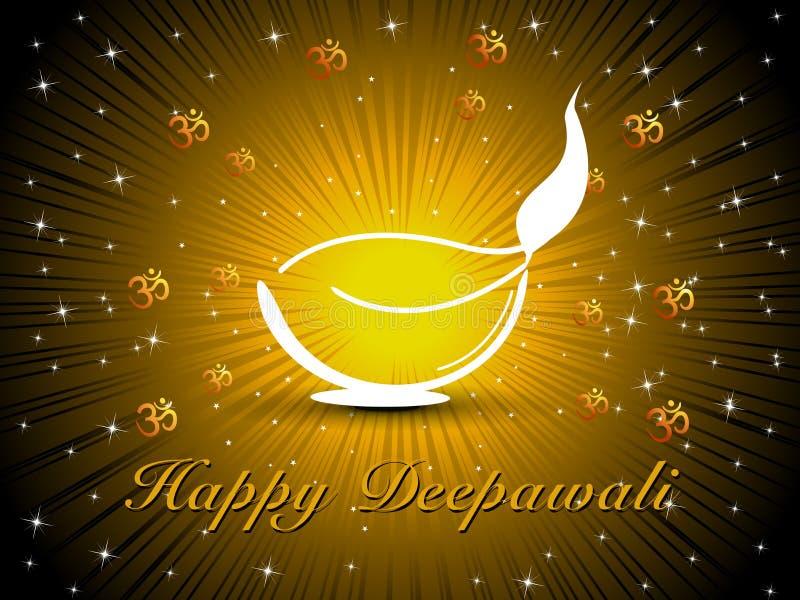 ευτυχές διάνυσμα diya diwali διανυσματική απεικόνιση