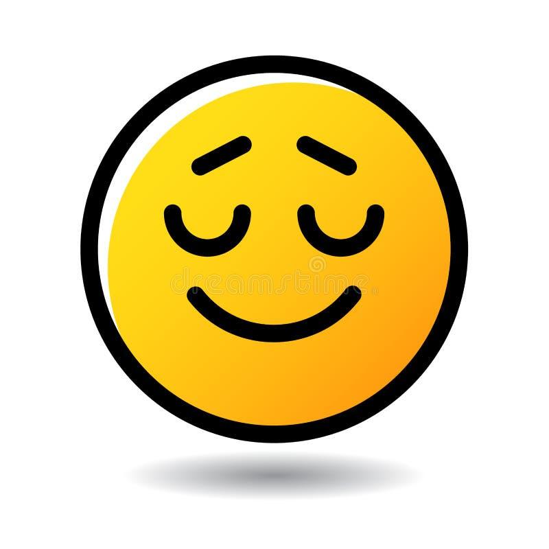 Ευτυχές εικονίδιο emoji χαμόγελου emoticon διανυσματική απεικόνιση
