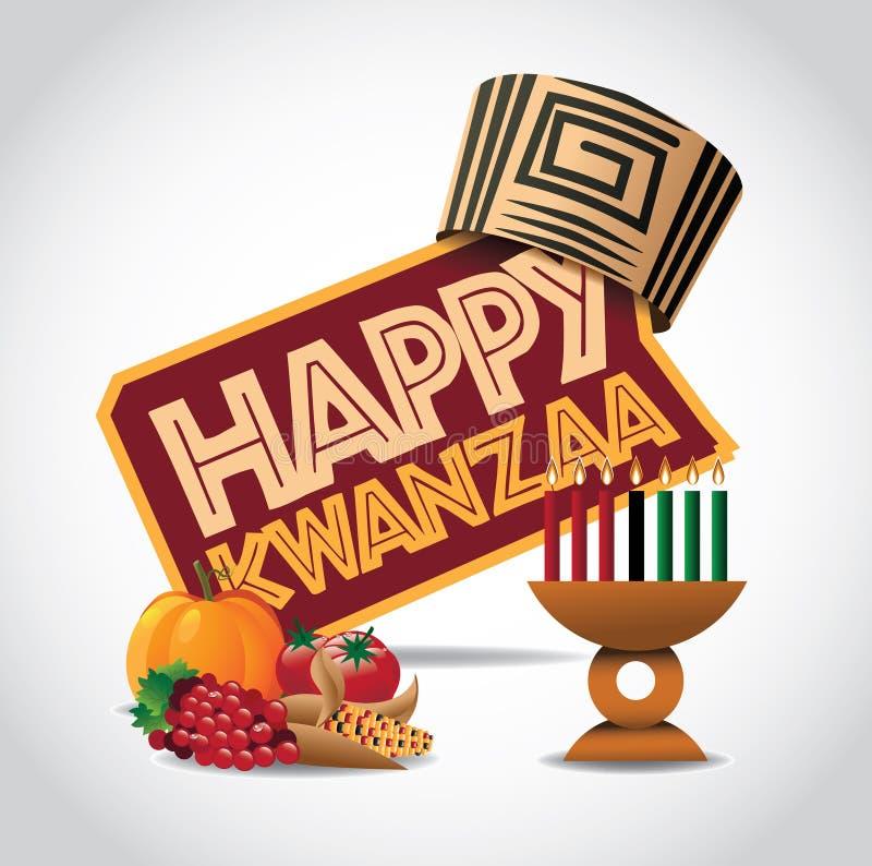 Ευτυχές εικονίδιο Kwanzaa διανυσματική απεικόνιση