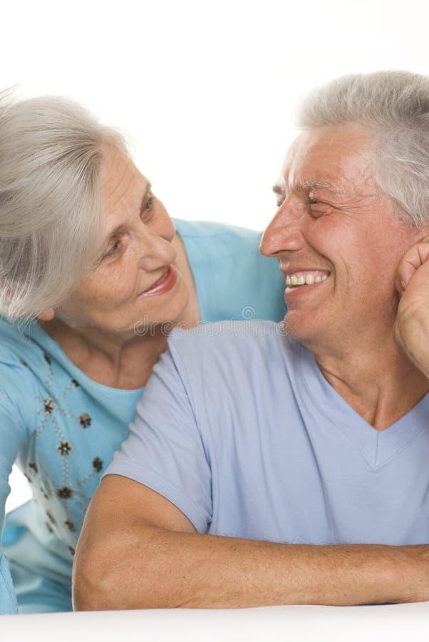 Ευτυχές ηλικιωμένο ζεύγος στοκ εικόνα
