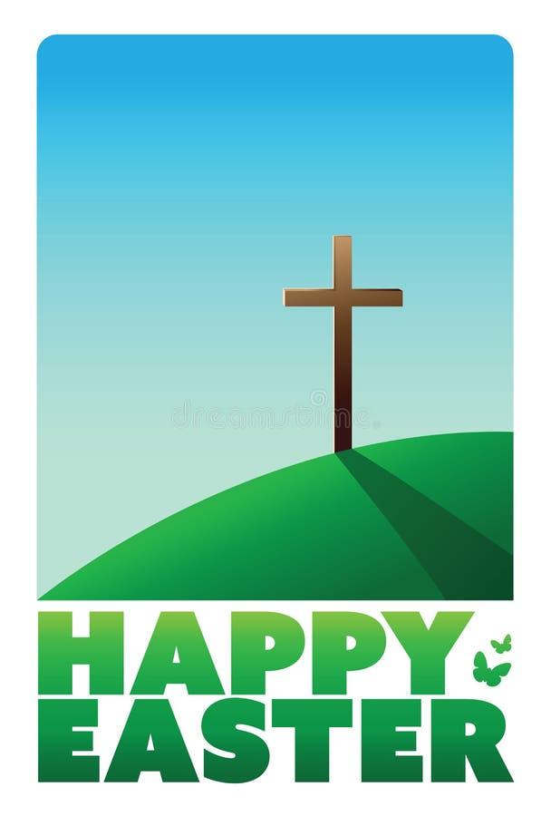 Ευτυχές διάνυσμα χαιρετισμού Πάσχας ελεύθερη απεικόνιση δικαιώματος