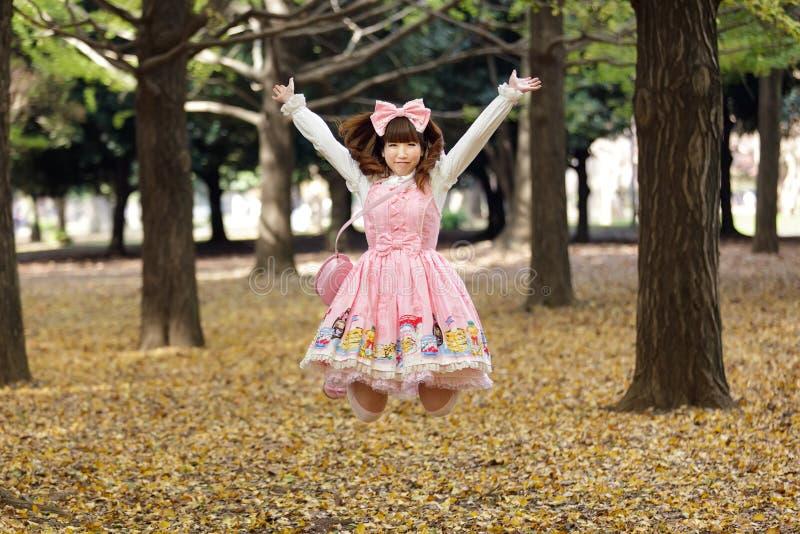 ευτυχές ιαπωνικό lolita στοκ εικόνες