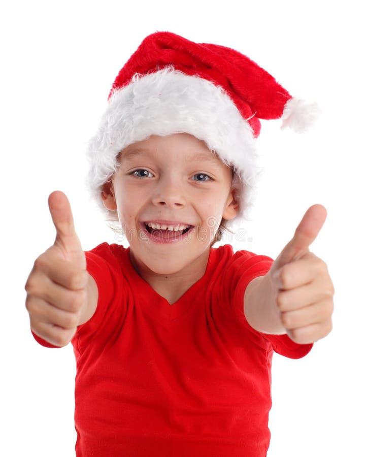 ευτυχές καπέλο Χριστου στοκ εικόνες με δικαίωμα ελεύθερης χρήσης