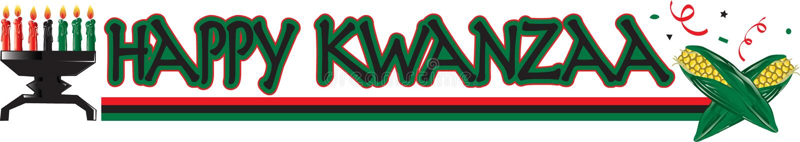 Ευτυχές κείμενο Kwanzaa ελεύθερη απεικόνιση δικαιώματος