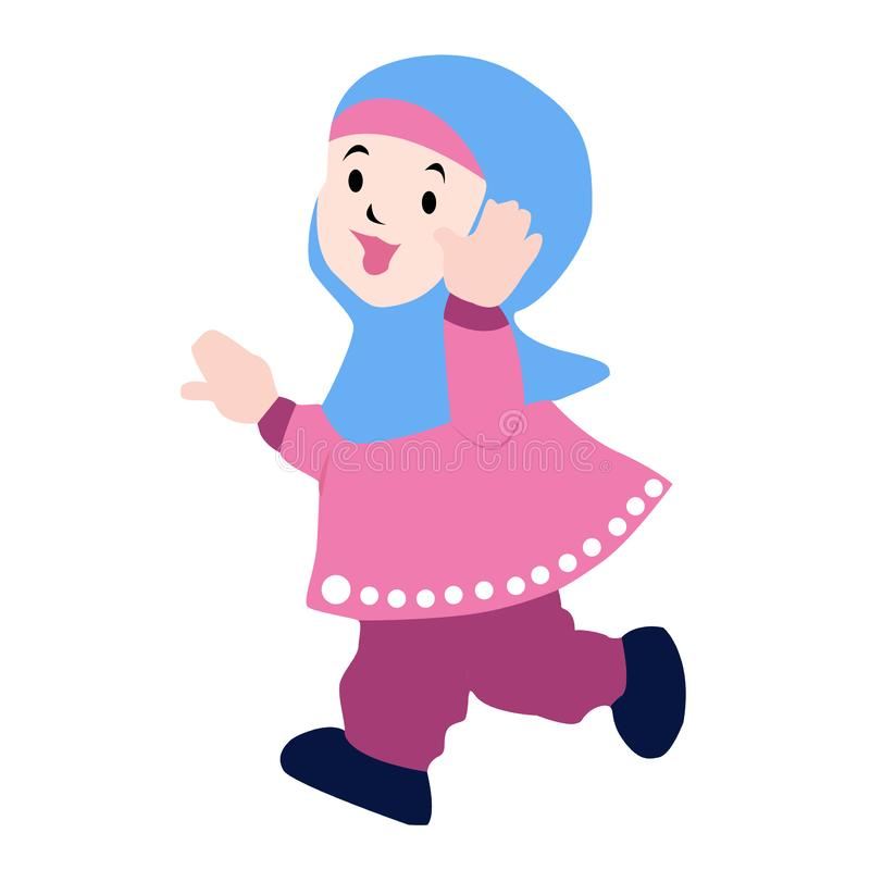 Ευτυχές κορίτσι παιδιών Moeslim στοκ εικόνες