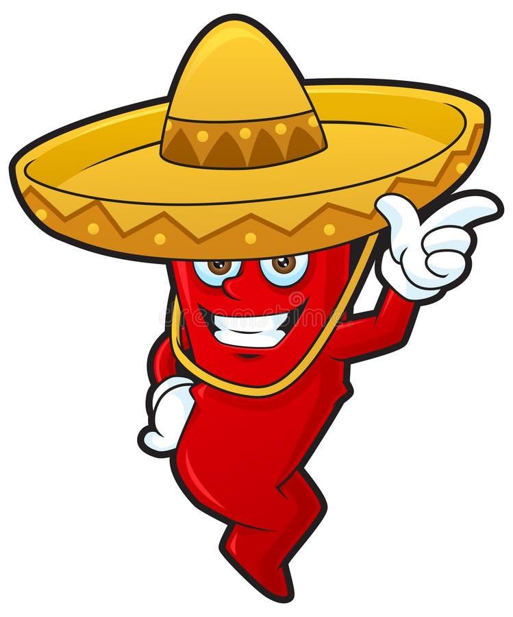 Download Ευτυχές μεξικάνικο τσίλι απεικόνιση αποθεμάτων. εικονογραφία από πικάντικος - 22787321