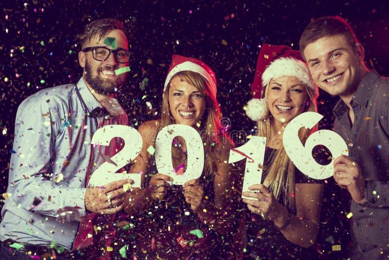 Ευτυχές νέο έτος του 2016 στοκ εικόνες