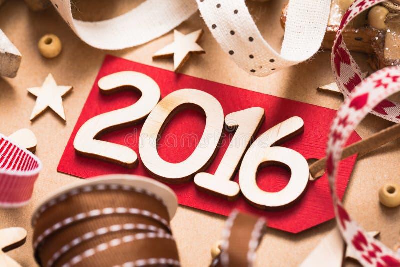 Ευτυχές νέο έτος του 2016 στοκ εικόνα